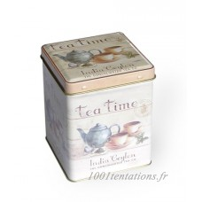 Tea Caddy - India Ceylon Tea Company - 9.5cm by Buzz - B00DW8DO64