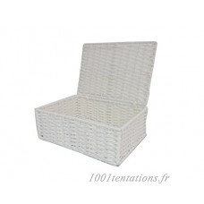 Arpan Paper Rope Storage Basket Box With Lid - White (Small ) by ARPAN - B01F8O2HTE