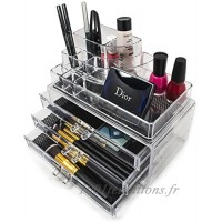 Sorbus Acrylic Cosmetics Makeup and Jewelry Storage Case Display- Includes Round Top Storage with 3 Large Drawers by Sorbus - B011CPGB9A